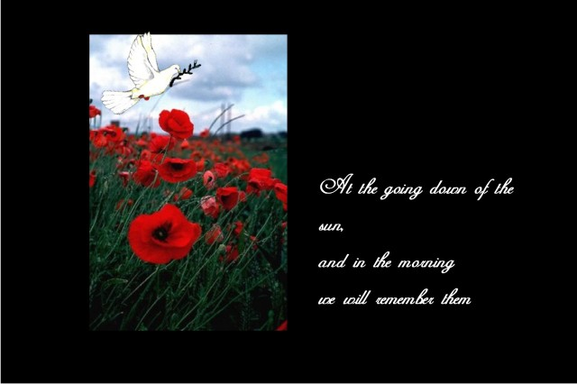 11am on 11th Rememberance day
